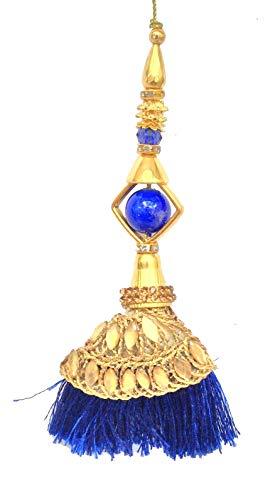 Buntes 1 Paar Quasten DIY Zubehör Kleid Quaste Saree Salwar Kameez Latkans, blau, 5