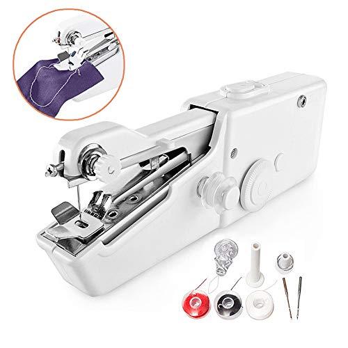 Surenhap Mini Machine à Coudre, Machine à Coudre portative Manuel DIY l'Artisanat Vêtements Rideaux pour Le Tissu, Les vêtements ou Le Tissu pour Les Enfants