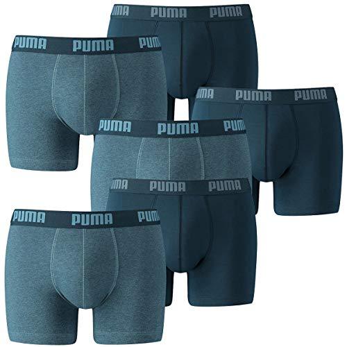 PUMA Herren Boxershorts Unterhosen 521015001 6er Pack , Wäschegröße:L;Artikel:-162 denim