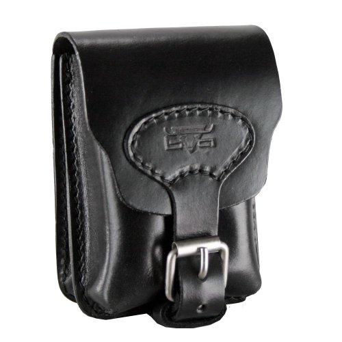Mika Lederwaren Gürteltasche Leder 13 cm schwarz