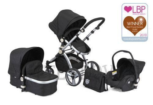 BLACK CARRERA SPORT 3-in-1 Baby Travel System/Pushchair/Pram/Buggy/Stroller 41f5YNT9N2L