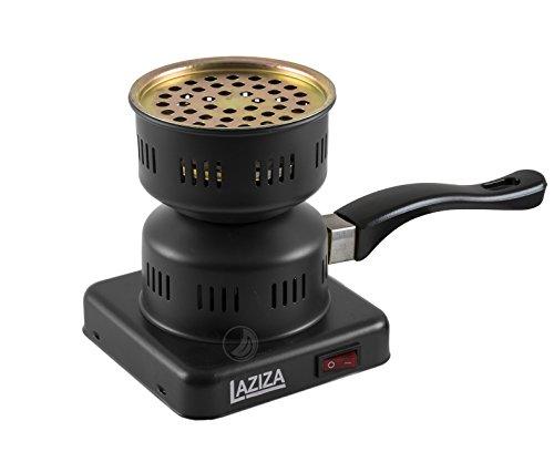 Laziza elektrischer Kohleanzünder für Shisha Naturkohle 450W schwarz A14
