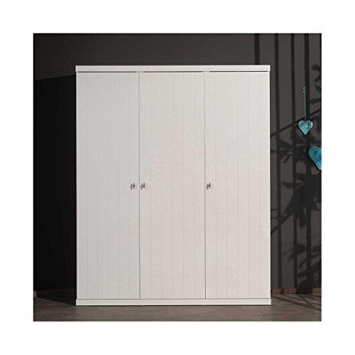 Vipack ROKL1314 Robin Armoire avec 3 Portes MDF Blanc Laqué 166 x 57 x 204,5 cm