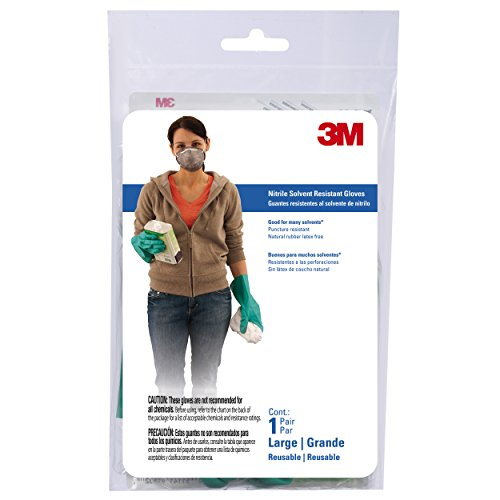 3M 90012T Large Reusable Nitrile Gloves by 3M