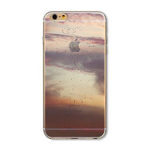 Coque iPhone 5 5s SE Housse étui-Case Transparent Liquid Crystal en TPU Silicone Clair,Protection Ultra Mince Premium,Coque Prime pour iPhone 5 5s-Paysage-style 10 3