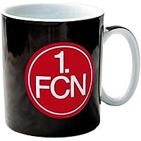 benu 1. FC Nürnberg FCN - Tasse Porzellantasse Kaffeetasse schwarz mit Vereinslogo