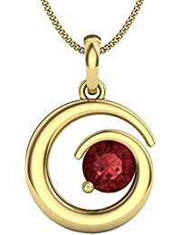 Perrian 18KT Yellow Gold and Ruby Pendant for Women