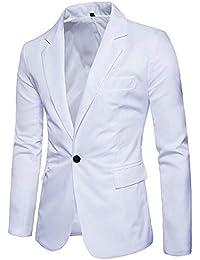 ece99032d5a STRIR Chaqueta Slim Fit Chal Esmoquin de los Hombres Chaqueta Casual Un  Botón Trajes Formales Abrigos
