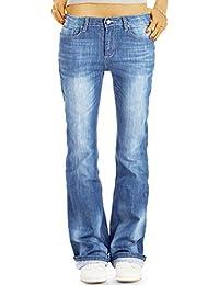 Bestyledberlin Damen Bootcut Jeans, Regular Fit Flared Pants, Ausgestellte Basic Jeans j27g