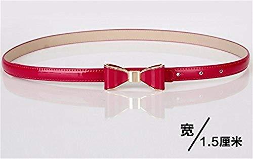 Chengkem Kleider Gürtel, Frauen Bow Wild Skinny Thin Belt (Color : The Red/Q, Größe : The S) Bow Skinny Belt