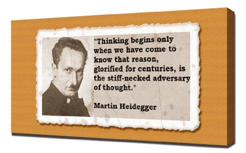pingoo Prints Martin Heidegger Quotes 15,2cm Kunstdruck, Leinwand, mehrfarbig, 60x 90x 5cm