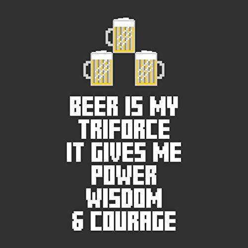 Beer Is My Triforce Legend Of Zelda Women's Hooded Sweatshirt Anthracite