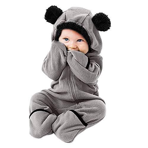JiaMeng Infant Kleinkind Baby Mädchen Jungen Cartoon Ohren Hoodie Strampler Reißverschluss Kleidung Overall
