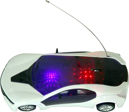 Best Shop 3D LED Light Modern Car With Remote Control -White