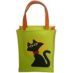 Blesiya Bolsa de Caramelo Regalos de Botín Truco o Trato de Niños Accesorio de Fiesta de Halloween - Gato