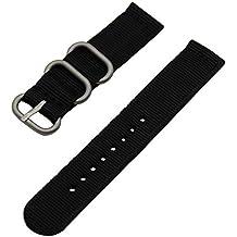 TRUMiRR 24mm banda de reloj de nylon balístico Zulu 2 piezas correa para Sony Smartwatch 2 SW2, Caja Panerai 44mm, Suunto TRAVERSE