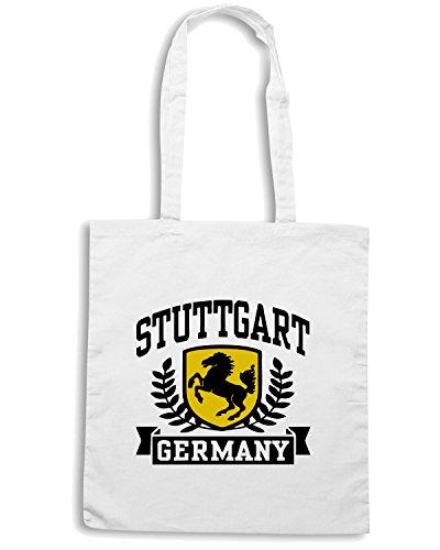 T-Shirtshock - Borsa Shopping TSTEM0093 stuttgart germany white Bianco