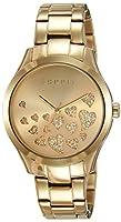 Esprit Esmee ES107282005 - Reloj para mujeres, correa de acero inoxidable chapado color dorado de Esprit
