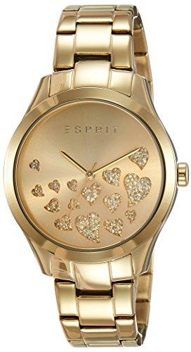 Esprit Esmee ES107282005 - Reloj para mujeres, correa de acero inoxidable chapado color dorado