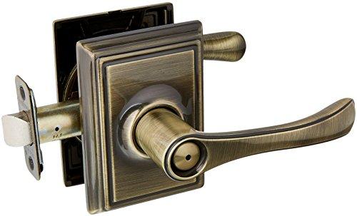 Schlage F40Avila mit Addison Rose Sichtschutz Lock mit Spiralbohrer Verriegelung 10027Strike Messing antik Finish -