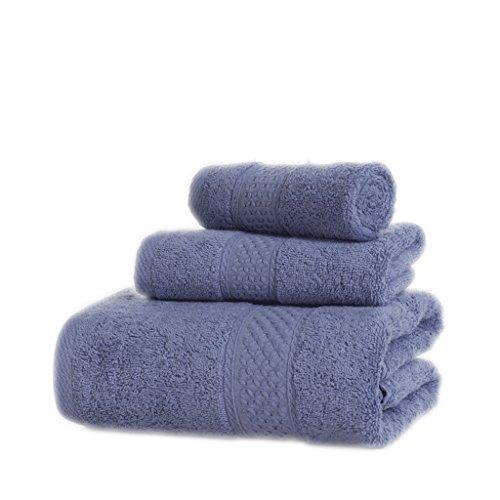 Set Asciugamani, Cotone, Più Colore, Confezione Da 3 ( Colore : 4#Grey ) 6#Shallow purple