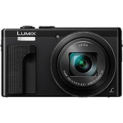 Panasonic Lumix DMC-TZ80-K - Cámara compacta de 18.1 MP (zoom óptico de 30x, estabilizador óptico, grabación de vídeo 720p HD, WiFi), Color Negro