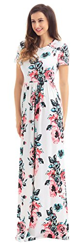 Lukis Damen Sommerkleid Strandkleid Blumen Boho Maxikleid Cocktail Party  Beachwear Typ1