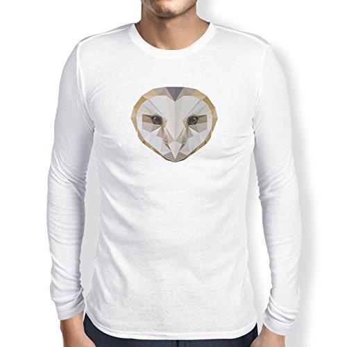 TEXLAB - Poly Owl - Herren Langarm T-Shirt Weiß
