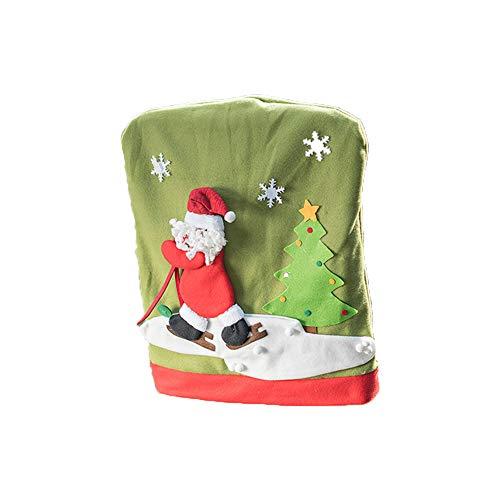 Wansan Weihnachtsmann Stuhl Zurück Abdeckung Weihnachten Xmas Party Tisch Dekoration Weihnachten Party Supplies (Weihnachtsmann)