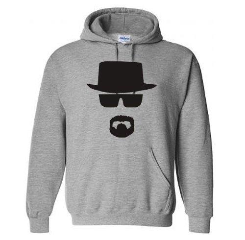 Star and Stripes - Sweatshirt Breaking Bad à capuche - Gris chiné, Vêtements / Tee shirts