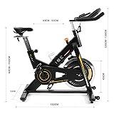 ISE Vélo Spinning Biking d'appartement Cardio Bike Indoor, Poids d'inertie de 15 KG avec Programme et l'Ecran Silencieux, Guidon et Siège Réglables SY-7910