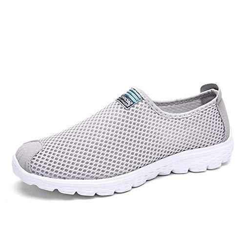 Kuletieas Unisex Sommer Atmungsaktives Mesh Männer Schuhe Leichte Männer Wohnungen Mode Lässig Männliche Schuhe-7 UK