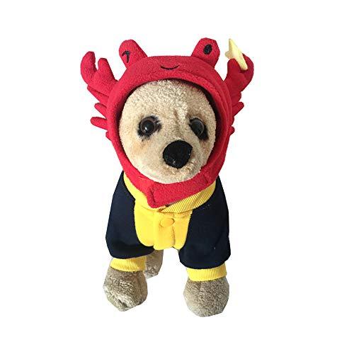 JINHONGH Krabbe, die Hundekopfbedeckung Halloween-Haustier-lustige Zusätze anredet (Size : M)