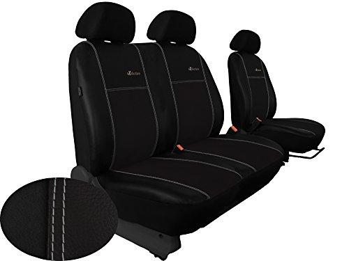 Preisvergleich Produktbild Sitzbezug für VW Busse/Transporter maßgefertigt 1 + 2 Sitzer ECO -Leder in Alcantara 9-farbig bestellbar (VW T4, SCHWARZ)