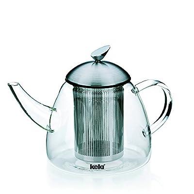 Kela théière en verre avec filtre amovible, 'Aurora'