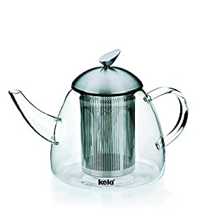Kela 16941 th i re en verre avec filtre amovible 1 8 for Aurora maison de cuisine