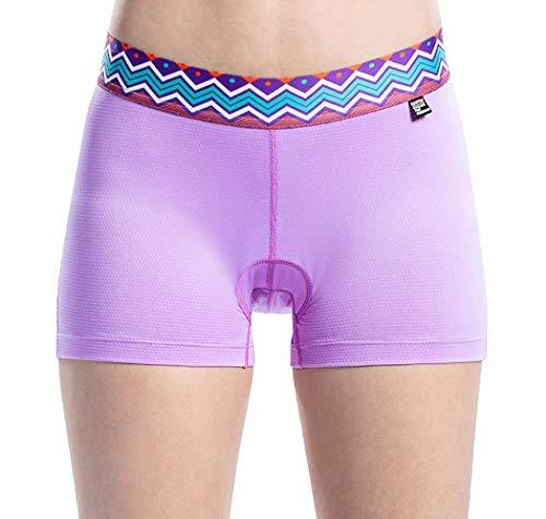 Santic Damen 3D gepolsterte Fahrradunterwäsche schnell trocknend Gel Bike Unterwäsche und Bike Shorts, Damen, violett, CN M -