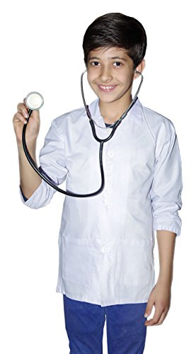 n White Lab Coat Doctor Coat Kids Science Coat Fancy Dress Parties Outfit (White, 13 Years) ()