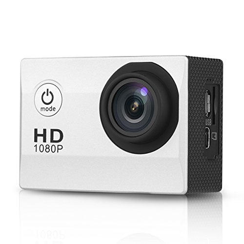 1012 - MINI DV CAMARA DEPORTIVA 1 5 DE ACCION IMPERMEABLE (1080P 30FPS  12MP HD  H 264  TF 32G  170 ° GRAN ANGULAR  USB2 0  HDMI) (PLATEADO)