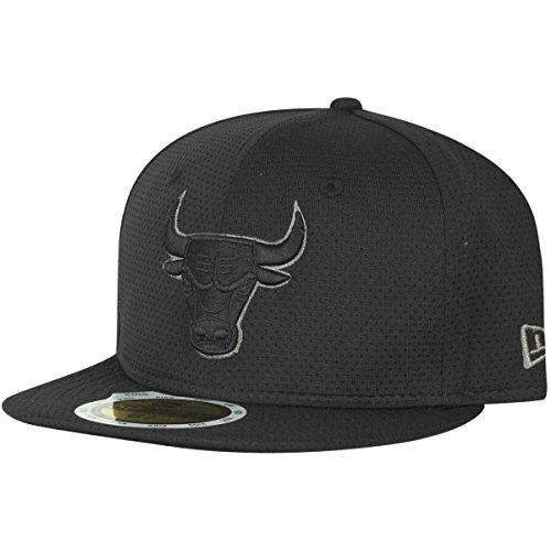 New Era Team Tonal Mesh Nba Jr Chibul Blk - Schirmmütze Linie Chicago Bulls für Jungen, Farbe Schwarz, Größe 6 3/4 (Tonale Linien)