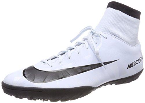 Nike Herren MercurialX Victory VI CR7 DF TF Fußballschuhe, Blau Schwarz-Weiß-Blauton 401, 46 EU - Männer Für Turf Schuhe Nike