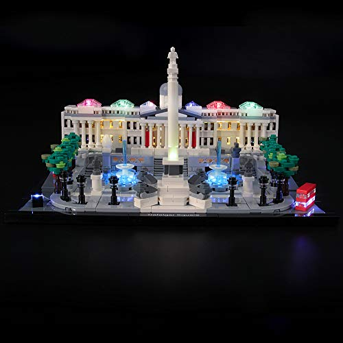 LIGHTAILING Conjunto de Luces (Architecture Trafalgar Square) Modelo de Construcción de Bloques - Kit de luz LED Compatible con Lego 21045 (NO Incluido en el Modelo)