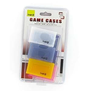 Logic 3 - Blister de 6 Boites en Couleurs pour Jeux Nintendo GBA SP - DS - DSLite - DSi - DSI XL