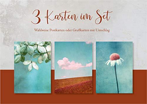 Fotokunst Postkarten 3 Karten im Set Sommer Kartenset