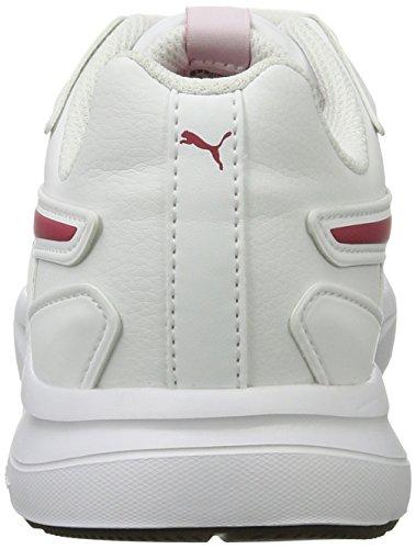 Puma Escaper Sl Jr, Sneakers Basses Mixte Enfant Blanc (White-love Potion)