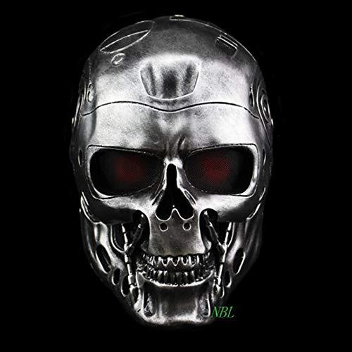 Halloween COS Terminator Helmet Masks Horror CS Paintball Ghost Creepy Resin Mask Masquerade Skull Movie Party Cosplay Props (Terminator Kostüm Für Kind)