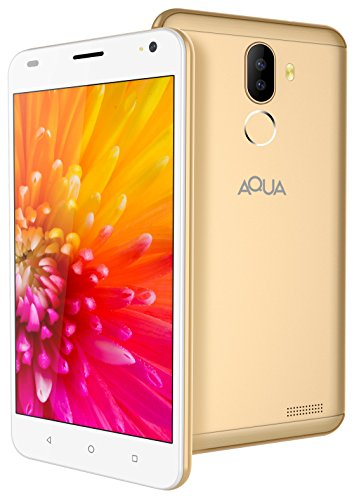 [Sponsored]Aqua Jazz 4G Android Smartphone Mobile With Dual Rear Camera, HD Screen & Fingerprint Security (Gold, 16 GB)