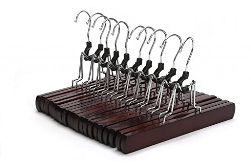 JS-Hanger-Perchas-antideslizantes-de-madera-autntica-muy-resistente-para-pantalones-anchos-faldas-con-gancho-giratorio-acabado-en-nogal-10-unidades