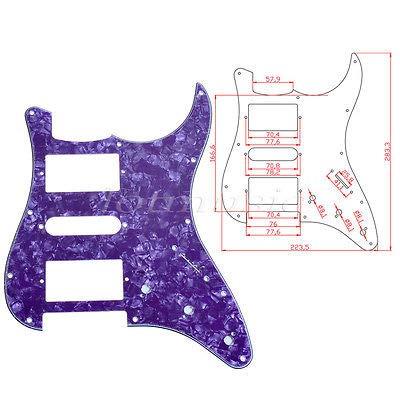 FidgetGear - Golpeador de guitarra eléctrica de 4 capas, color morado perlado para Fender Strat Stratocaster