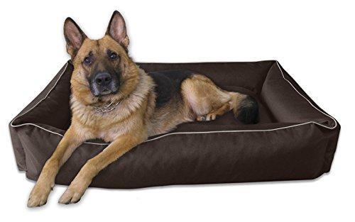 BedDog Hundebett MAX L bis XXXL, 10 Farben wählbar, Hundekissen Hundesofa Hundekorb,schwarz L ca. 80×65 cm - 5